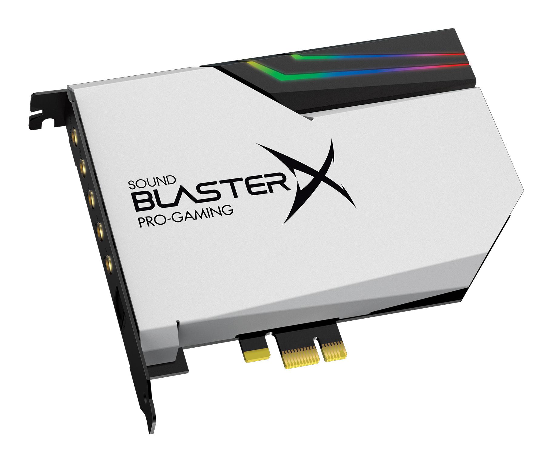 Sound BlasterX AE-5: Creatives Soundkarte ist RGB-beleuchtet - Sound BlasterX AE-5 Pure Edition (Bild: Creative)