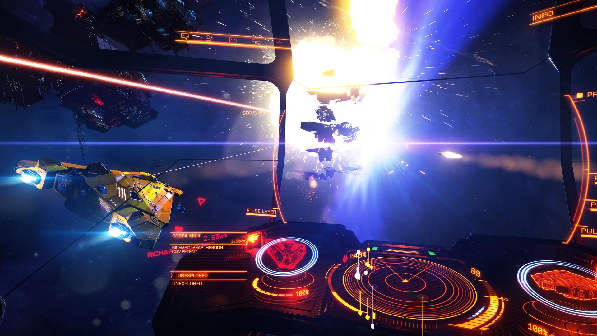 Frontier Development: Weltraumspiel Elite Dangerous für PS4 erhältlich - Elite Dangerous auf der Playstation 4 (Bild: Frontier Development)