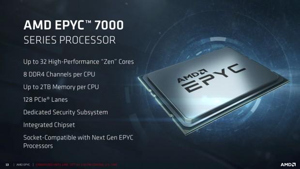 Die erste Epyc-Serie nutzt die Nummern 7xx1. (Bild: AMD)