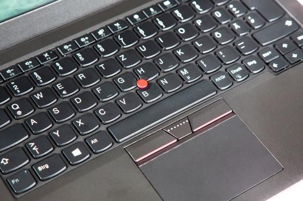 Der charakteristische Trackpoint und das Touchpad (Bild: Martin Wolf/Golem.de)