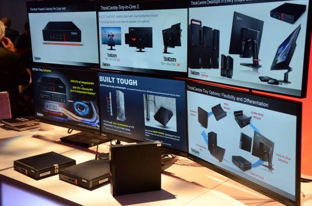 Bis zu sechs Monitore können angesteuert werden. (Foto: Nico Ernst/Golem.de)