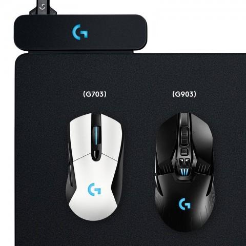 Powerplay-Pad mit G703 und G903 (Bild: Logitech)