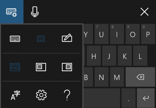 Die Einstellungen der neuen Bildschirmtastatur von Windows 10. (Bild: Microsoft)