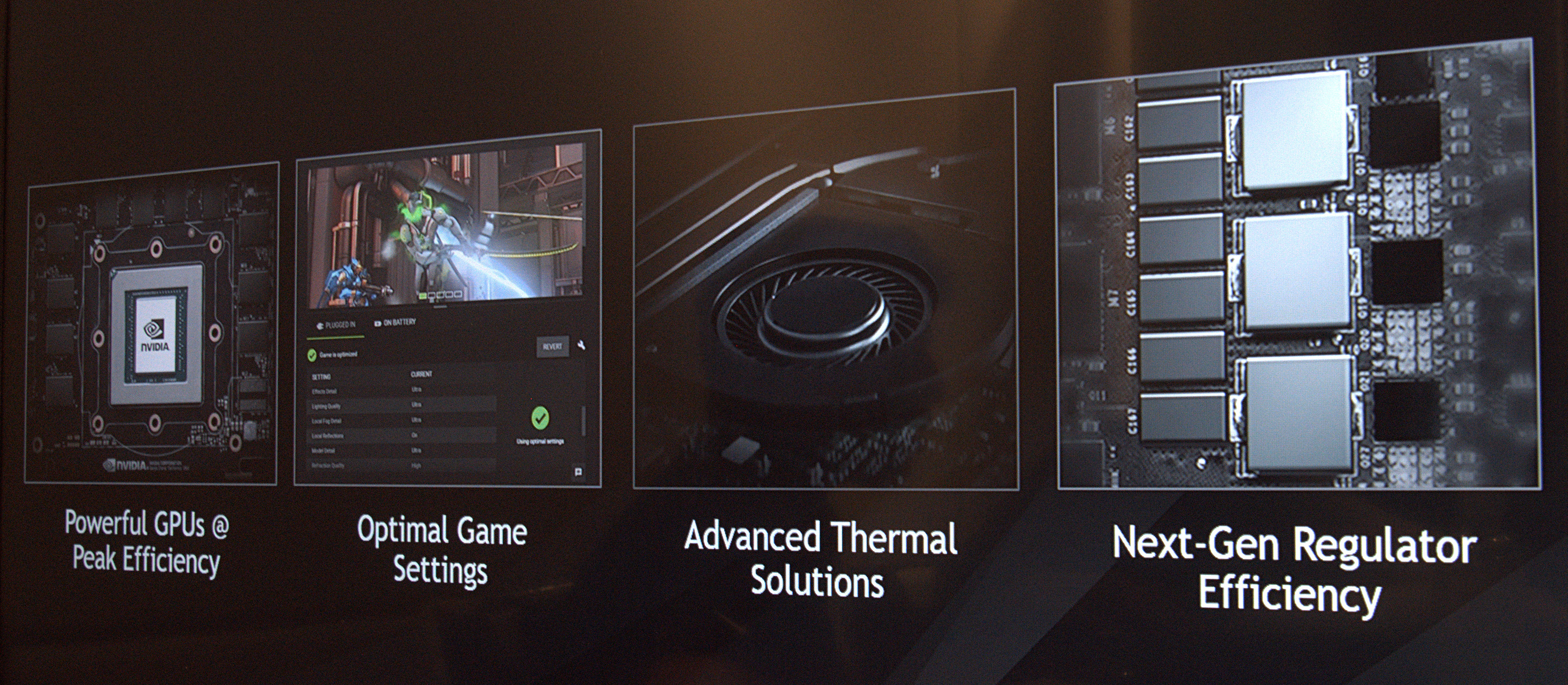 Nvidia: Max-Q und Whisper Mode machen Notebooks leiser - Max-Q umfasst Hard- und Software. (Foto: Marc Sauter/Golem.de)