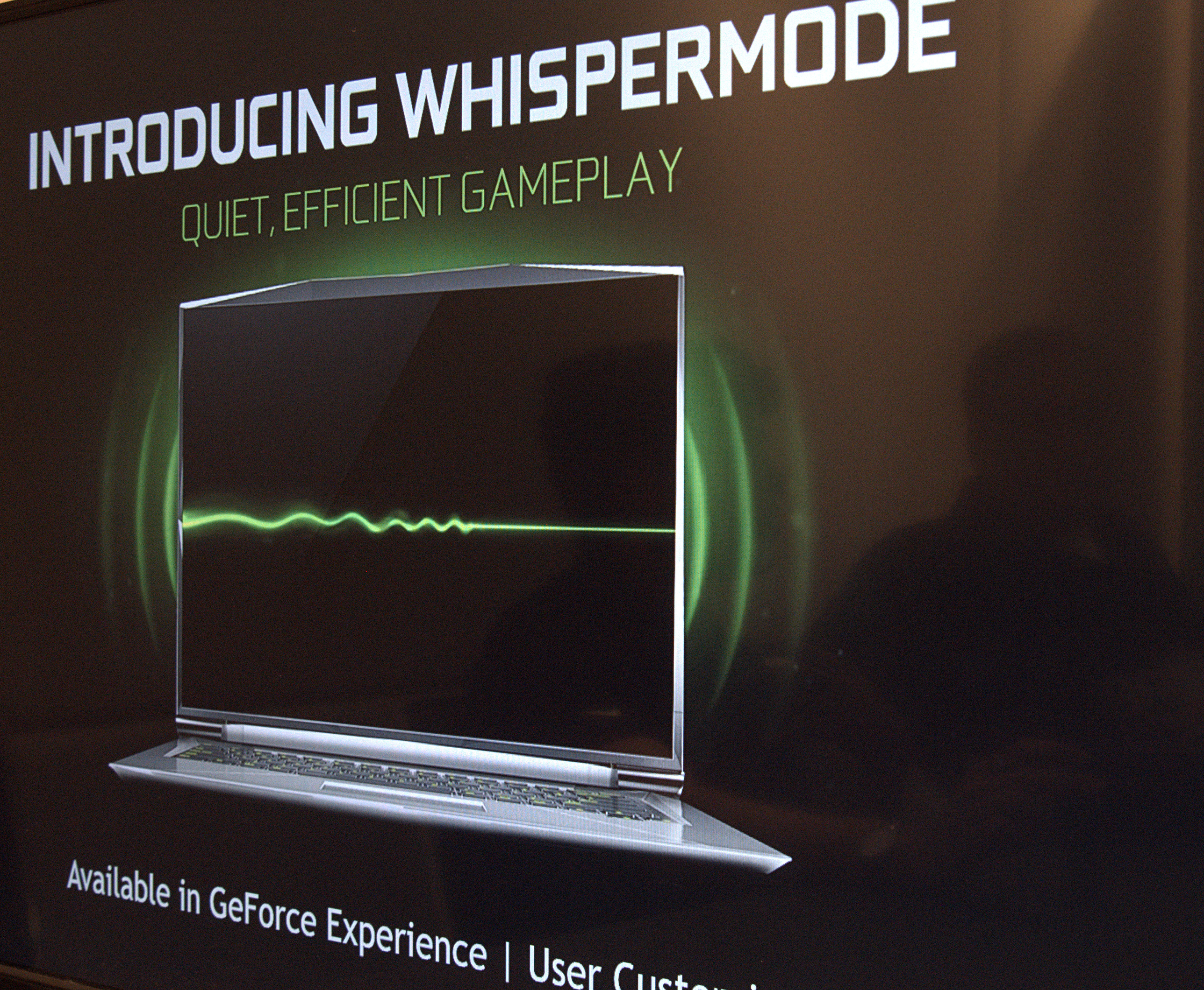 Nvidia: Max-Q und Whisper Mode machen Notebooks leiser - Er setzt die Geforce Experience voraus. (Foto: Marc Sauter/Golem.de)
