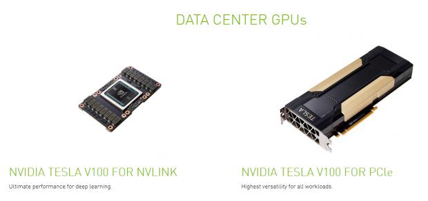 Tesla V100 als SMX2- und PCIe-Variante (Bild: Nvidia)