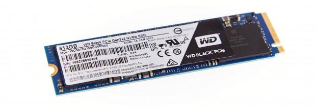 Die WD Black gibt es mit 256 und 512 GByte. (Foto: Martin Wolf/Golem.de)