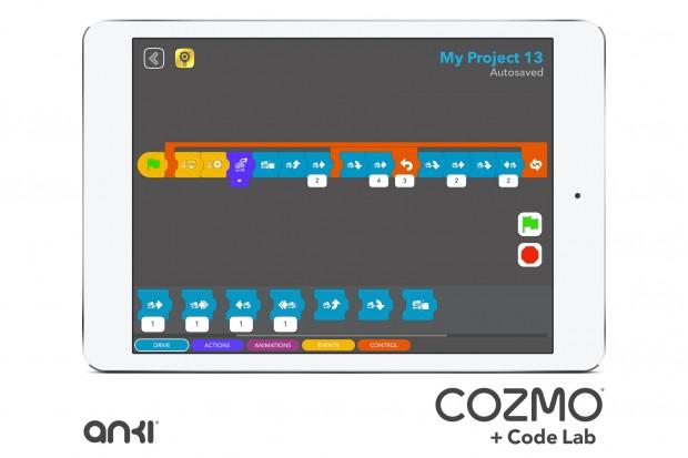 Der grafische Programmiereditor Code-Lab für Cozmo (Bild: Anki)