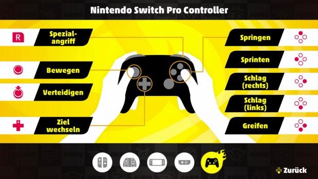 Die Steuerung mit dem Pro Controller lässt sich nicht individualisieren. (Bild: Nintendo/Screenshot: Michael Wieczorek/Golem.de)