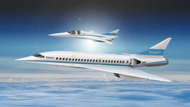 Konzept des Überschall-Passagierflugzeugs und des Demonstrators XB-1 (Bild: Boom Supersonic)