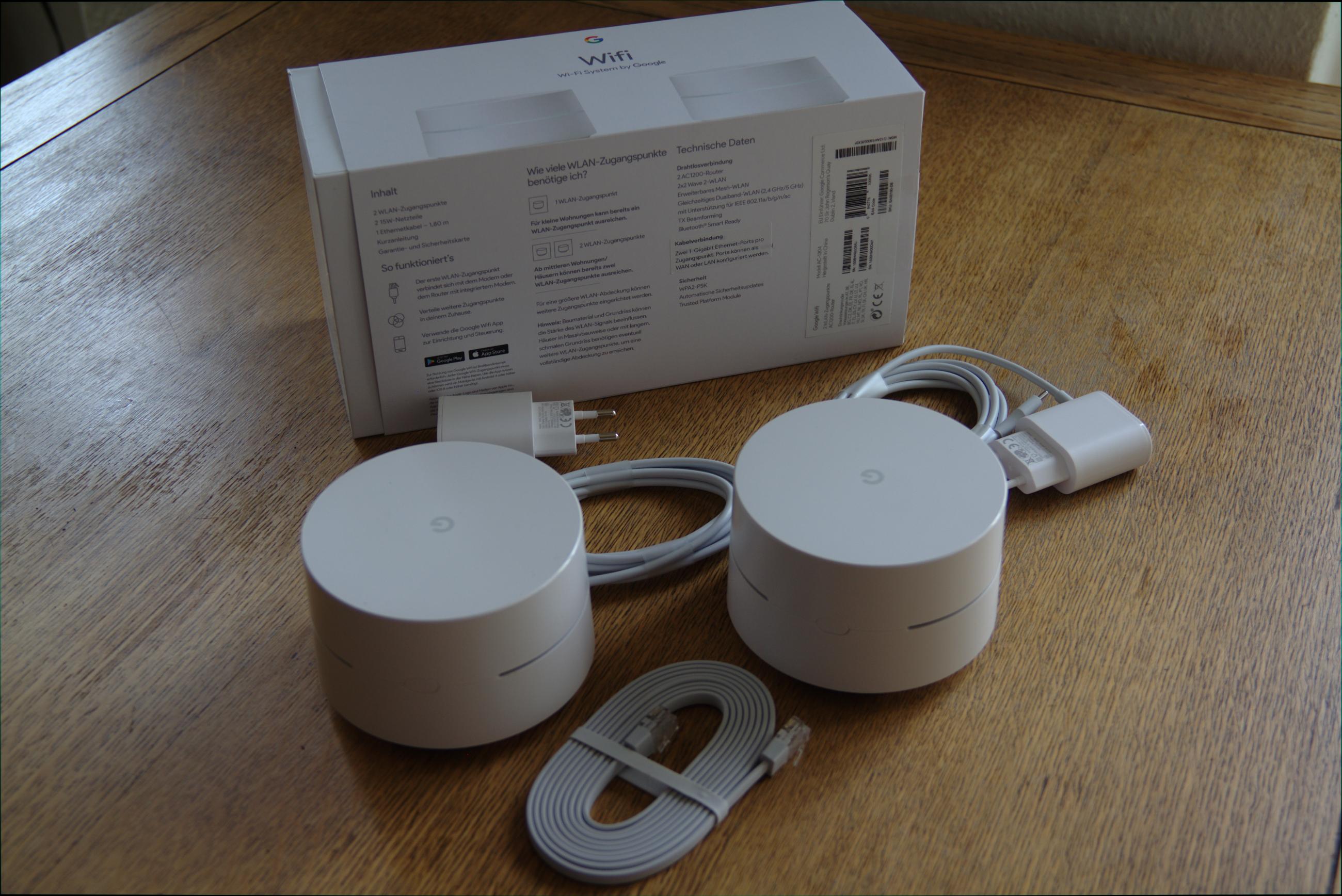 Google Wifi im Test: Google mischt mit im Mesh - Google Wifi gibt es im Einer- oder Zweier-Pack (Google/Foto: Golem.de)