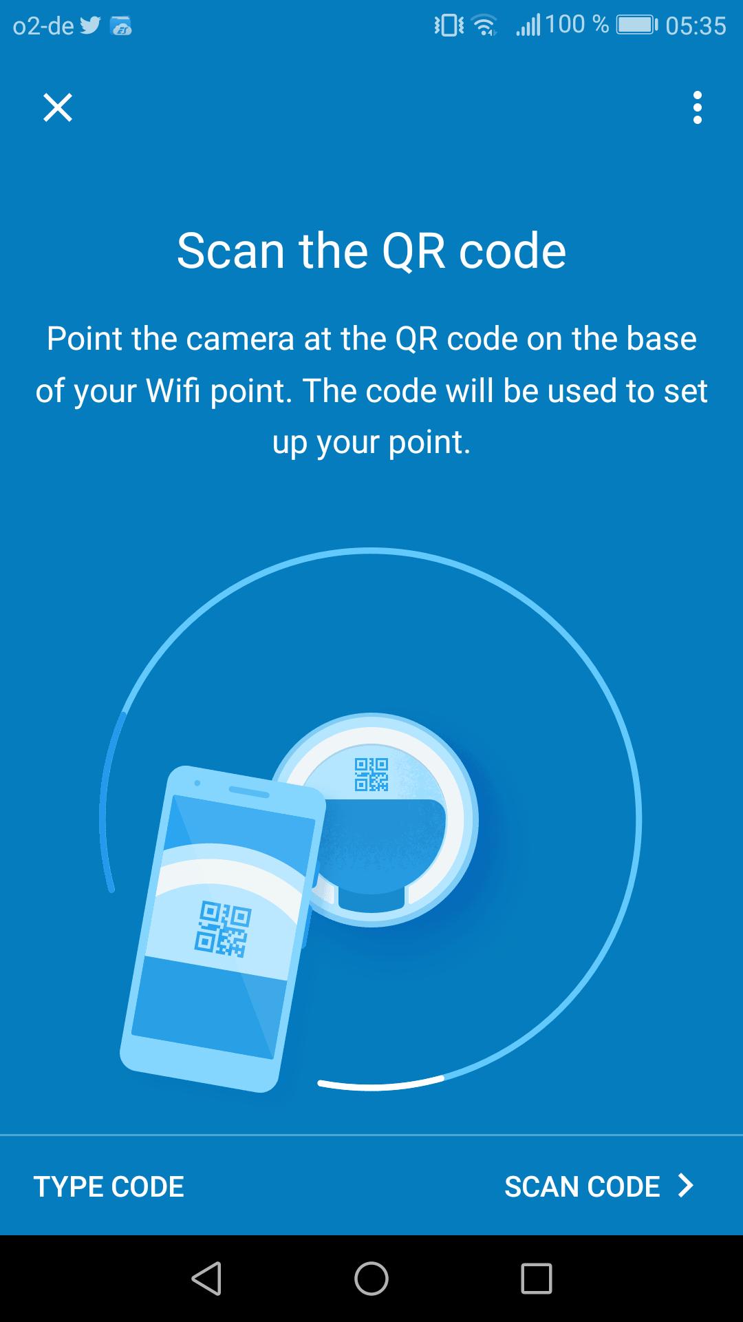 Google Wifi im Test: Google mischt mit im Mesh - Per Smartphone wird der QR-Code eingescannt, der ... (Google/Screenshot: Golem.de)