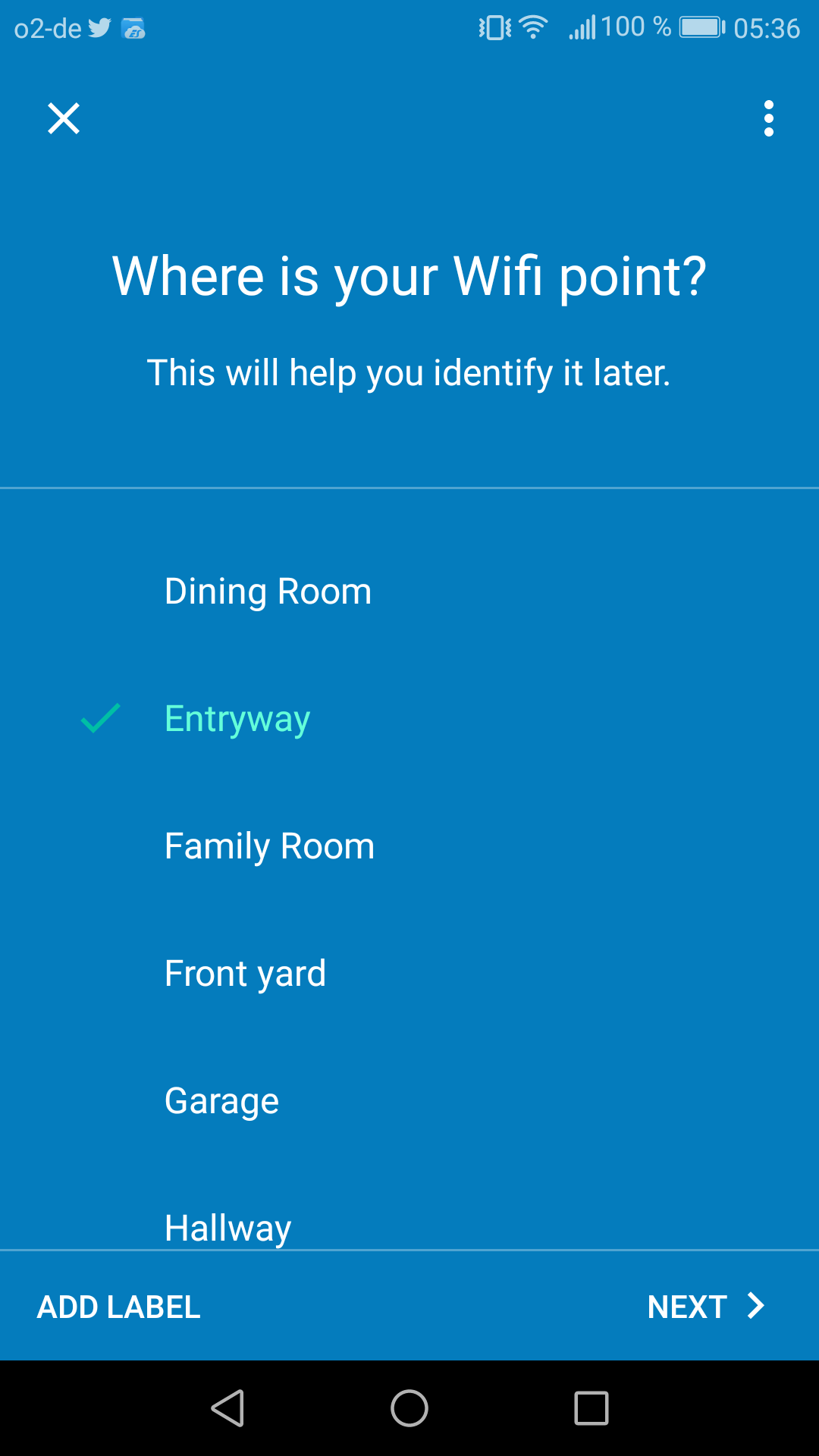 Google Wifi im Test: Google mischt mit im Mesh - ... ein Name passend zum Standort vergeben. (Google/Screenshot: Golem.de)