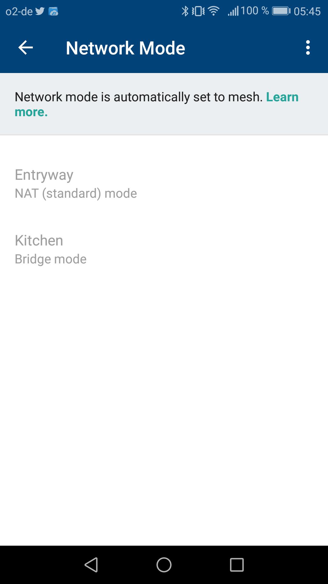 Google Wifi im Test: Google mischt mit im Mesh - Im Mesh-Netzwerk wird der Netzwerk-Modus automatisch gesetzt. (Google/Screenshot: Golem.de)