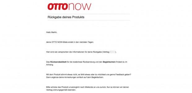 Praktisch: Ottonow erinnert per E-Mail an den endenden Mietzeitraum. (Screenshot: Martin Wolf/Golem.de)