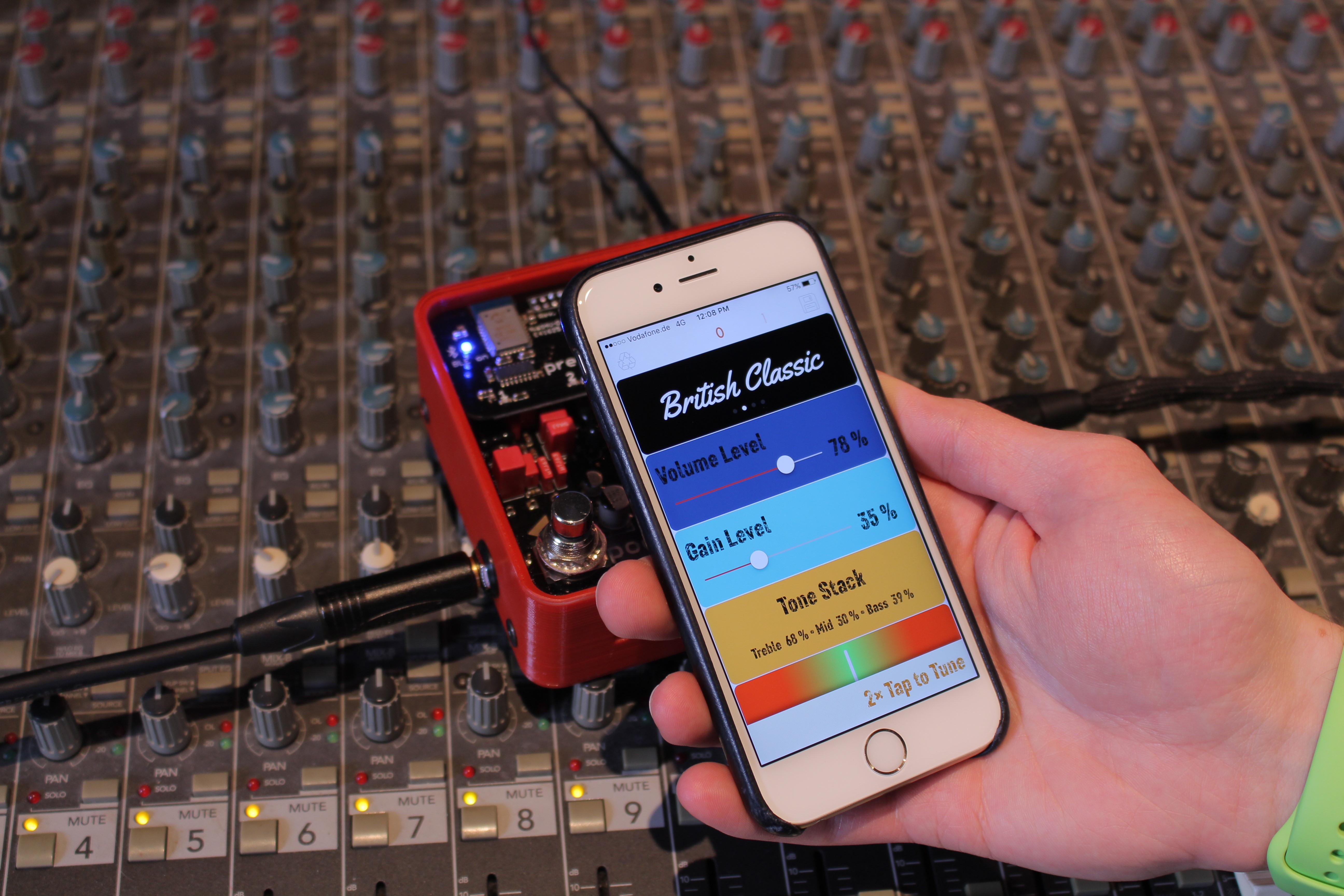 Poets One: Analoger Gitarren-Preamp mit Bluetooth-Anbindung vorgestellt -
