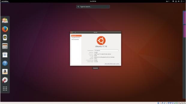 Die aktuelle Vorschauversion von Ubuntu 17.10 hat bereits den Gnome-Desktop als Standard. (Canonical/Screenshots: Golem.de)