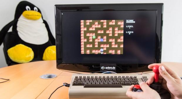 Spiele lassen sich einfach über die Oberfläche von Retro Pie laden. (Bild: Martin Wolf/Golem.de)