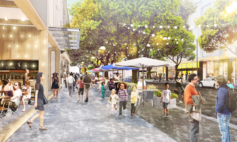 Ausbaupläne: Facebook will Menlo Park weiter umbauen - So stellt sich Facebook den neuen Willow Campus vor. (Bild: Facebook)