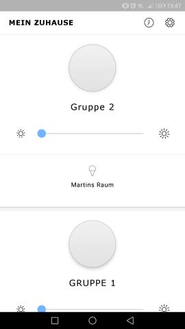 Die Trådfri-App ermöglicht es Nutzern, das System mit einer grafischen Oberfläche zu steuern. (Screenshot: Golem.de)