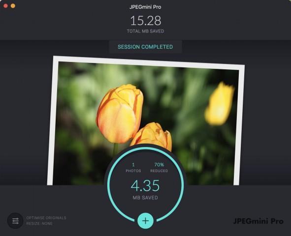 JPEGMini Pro bei der Arbeit (Screenshot: Golem.de)