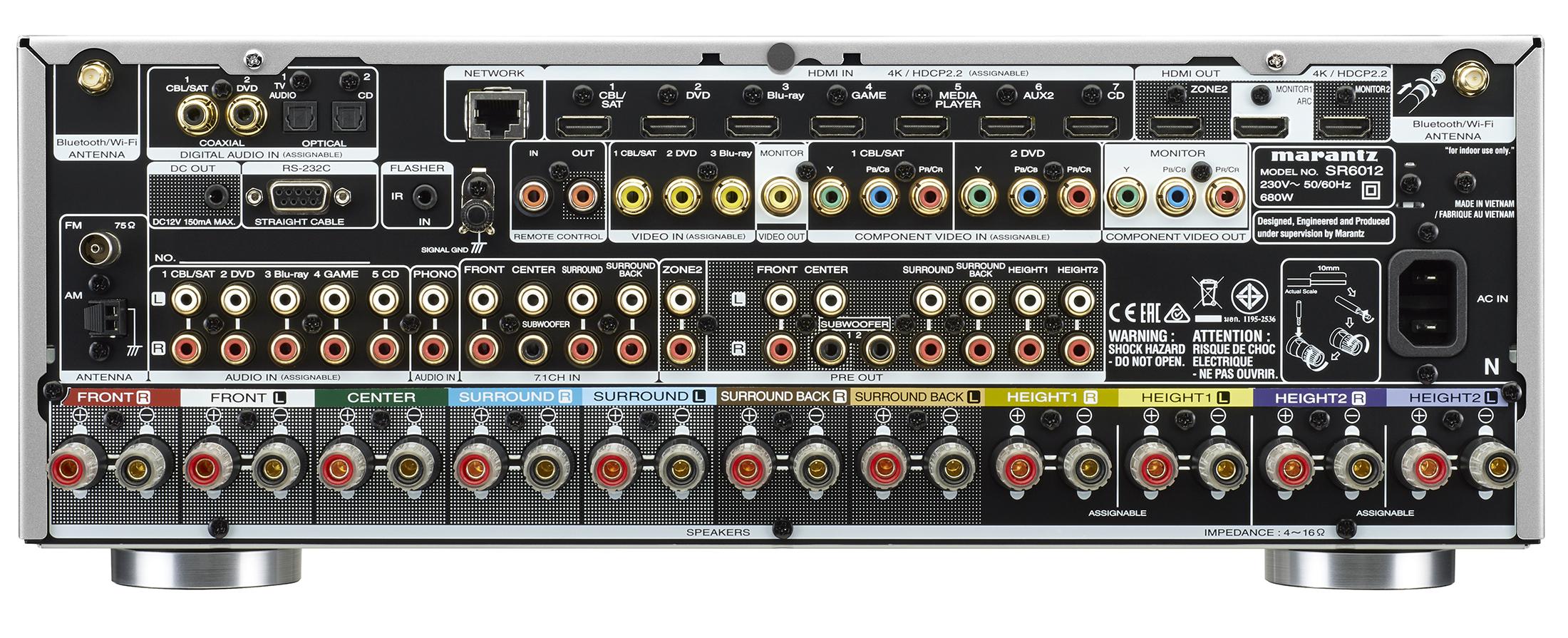SR5012 und SR6012: Marantz stellt zwei neue vernetzte AV-Receiver vor -