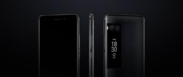 Das Pro 7 von Meizu hat eine Dual-Kamera und ein zusätzliches Display auf der Rückseite. (Bild: Meizu)