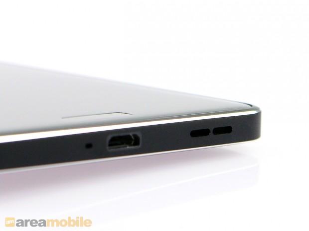 Das Nokia 6 hat ein Metallgehäuse, das sehr gut verarbeitet ist. (Bild: Areamobile)