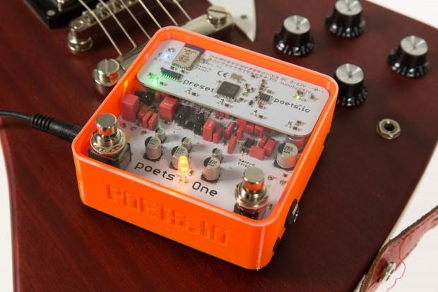 Der Poets One ist ein kleiner Gitarrenvorverstärker, der vier verschiedene Amp-Modelle und sechs Speicherplätze hat. (Bild: Martin Wolf/Golem.de)