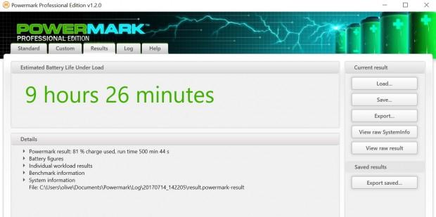 In Powermark erreicht das Gerät durchschnittliche Werte ...  (Screenshot: Oliver Nickel/Golem.de)