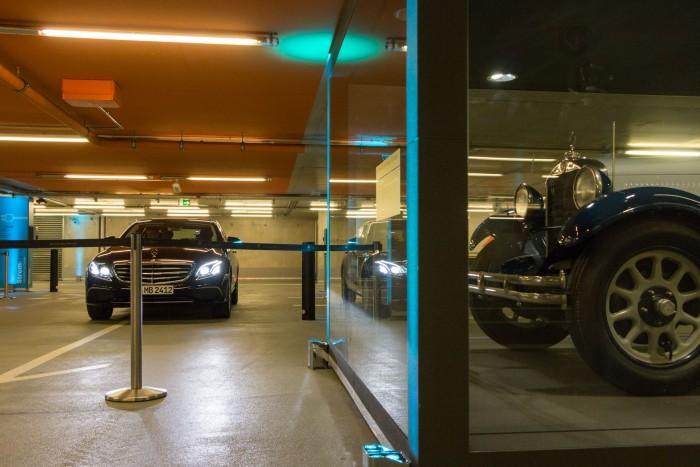... die für das automatisierte Parken nur leicht angepasst wurde. Das meiste ist Serientechnik. (Foto: Werner Pluta/Golem.de)
