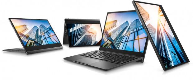 Das Notebook lässt sich in verschiedenen Winkeln aufstellen.<br> (Bild: Dell)