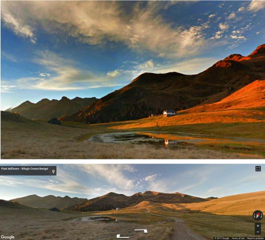 Der Algorithmus nutzt Bilder aus Google Streetview. (Bild: Google)