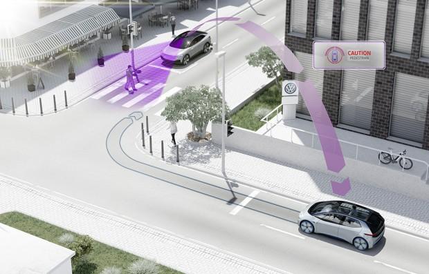 Volkswagen will per pWLAN kommunizieren. (Bild: Volkswagen)