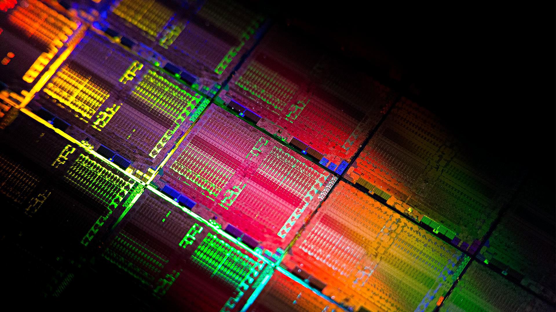 Radeon RX Vega 64 im Test: Schnell und durstig mit Potenzial - Wafer mit Vega-10-Chips (Bild: AMD)