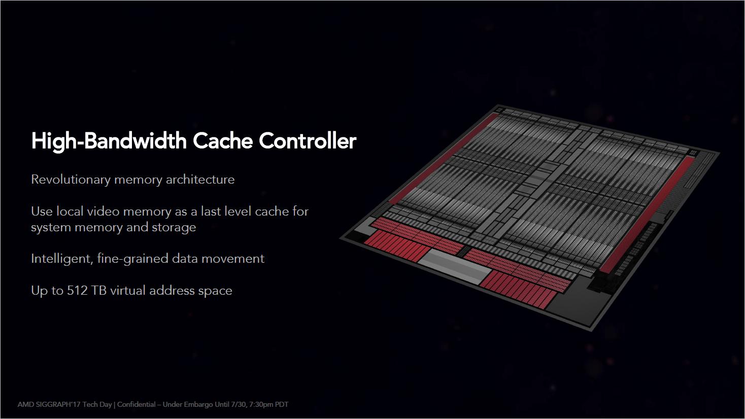 Radeon RX Vega 64 im Test: Schnell und durstig mit Potenzial - Vega weist einen High Bandwidth Cache Controller auf. (Bild: AMD)
