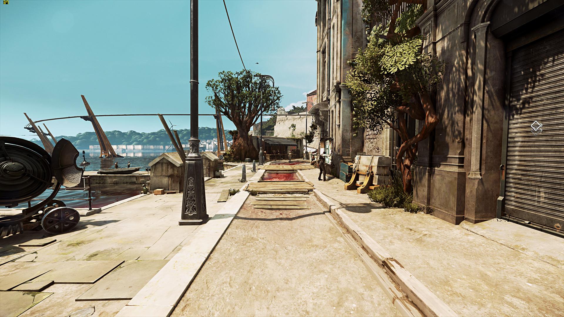 Radeon RX Vega 64 im Test: Schnell und durstig mit Potenzial - Benchmark-Szene von Dishonored 2 (Screenshot: Marc Sauter/Golem.de, Rechteinhaber: Bethesda)