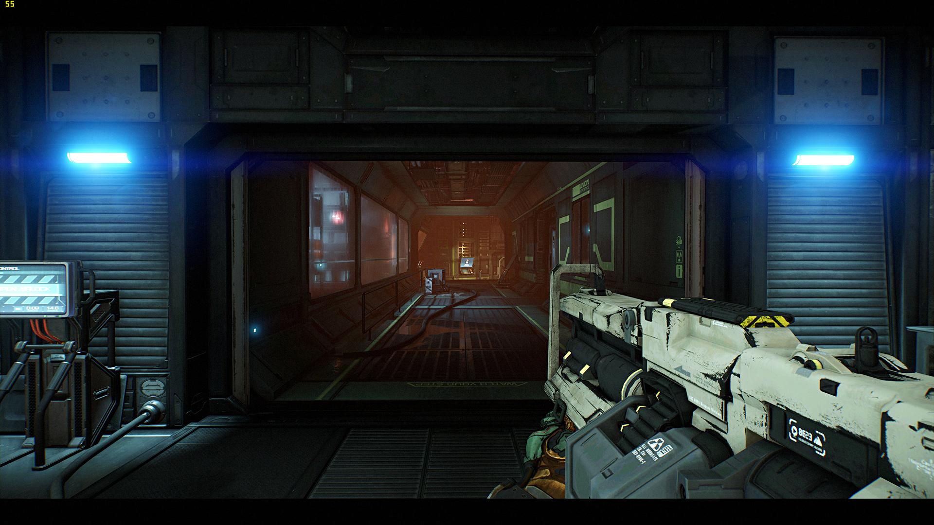 Radeon RX Vega 64 im Test: Schnell und durstig mit Potenzial - Benchmark-Szene von Doom (Screenshot: Marc Sauter/Golem.de, Rechteinhaber: Bethesda)