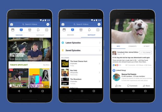 Facebooks neues Videoportal Watch (Bild: Facebook)