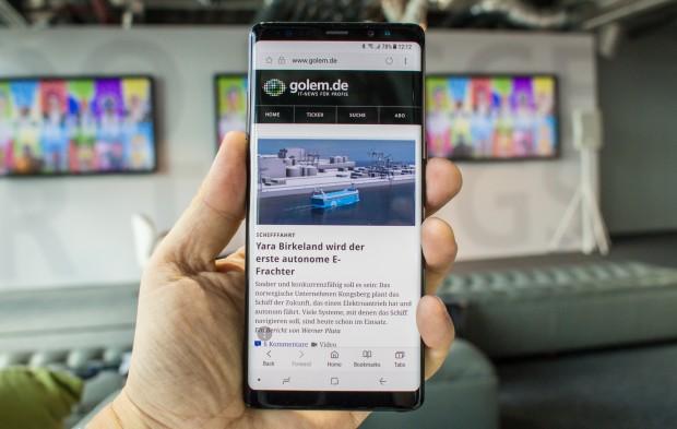Das Galaxy Note 8 von Samsung (Bild: Tobias Költzsch/Golem.de)