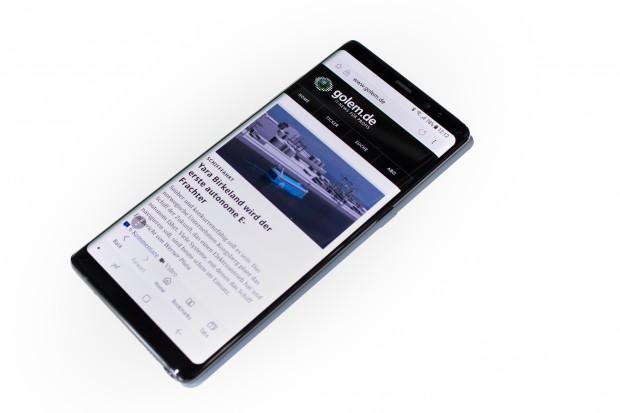Das neue Galaxy Note 8 hat ein 6,3 Zoll großes Display - das größte, das Samsung jemals bei einem Note-Smartphone verbaut hat. (Bild: Tobias Költzsch/Golem.de)