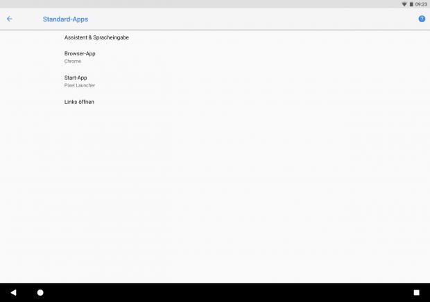 In den Einstellungen für Standard-Apps kann die Karten-App nicht verändert werden. (Bild: Google/Screenshot: Golem.de)