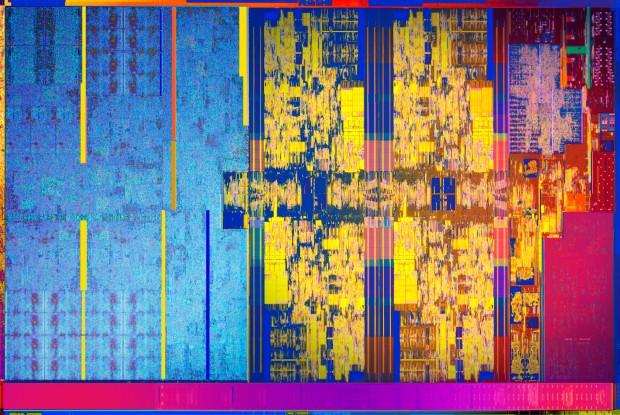 Die-Shot eines KBL-R (Bild: Intel)