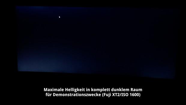 Bei komplett dunklen Inhalten ist leichtes Clouding sichtbar. (Foto: Michael Wieczorek/Golem.de)