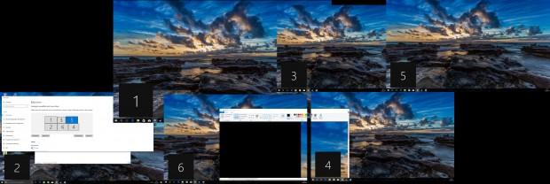 Es lassen sich sechs Bildschirme anschließen. (Screenshot: Oliver Nickel/Golem.de)