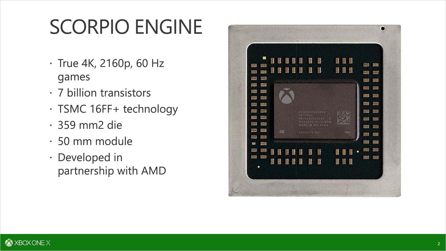 Scorpio Engine: Microsoft erläutert SoC der Xbox One X - Das SoC wird bei TSMC gefertigt. (Bild: Microsoft)