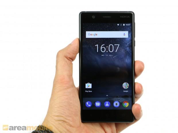 Das Nokia 3 hat einen 5 Zoll großen Bildschirm mit HD-Auflösung. (Bild: Areamobile)