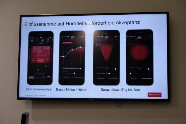 Per App lässt sich das Hörgerät einstellen. (Bild: Michael Wieczorek/Golem.de)