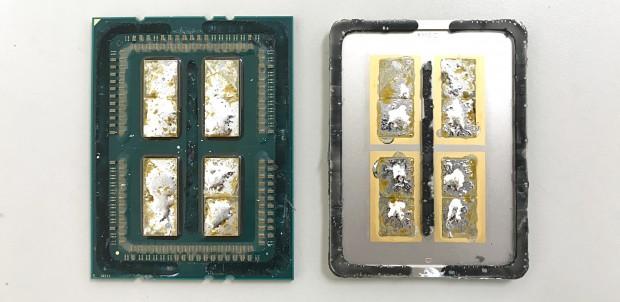 AMD verlötet vier Dies, aber nur zwei aktive. (Foto: Roman 'der8auer' Hartung)