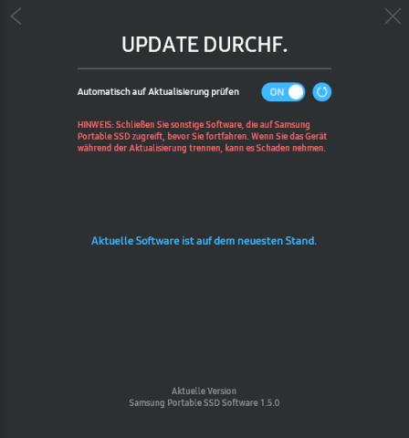 Die neue Software aktualisiert auf Wunsch die Firmware. (Screenshot: Marc Sauter/Golem.de)